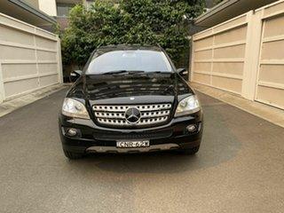 2008 Mercedes-Benz M-Class W164 MY08 ML500 Luxury Black 7 Speed Sports Automatic Wagon.