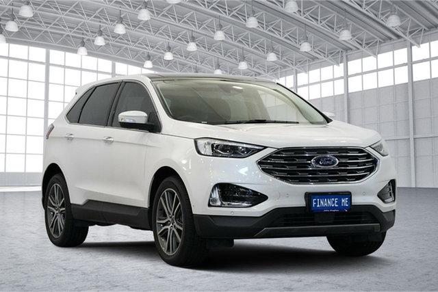 Used Ford Endura CA 2019MY Titanium SelectShift FWD, 2019 Ford Endura CA 2019MY Titanium SelectShift FWD White Platinum 8 Speed Sports Automatic Wagon