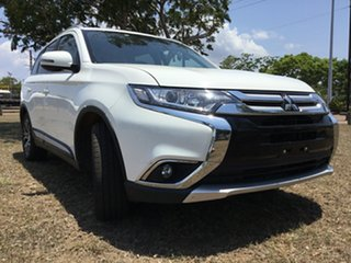 2018 Mitsubishi Outlander ZL MY19 LS 7 Seat (AWD) White Continuous Variable Wagon.