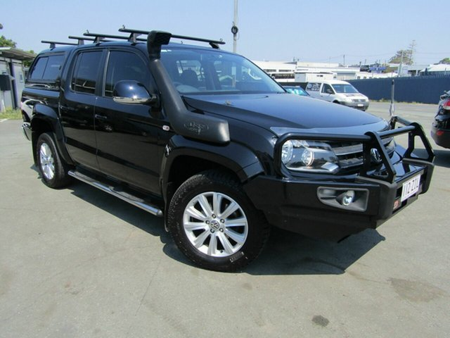 Used Volkswagen Amarok 2H MY13 TDI420 Highline (4x4), 2013 Volkswagen Amarok 2H MY13 TDI420 Highline (4x4) Black 8 Speed Automatic Dual Cab Utility