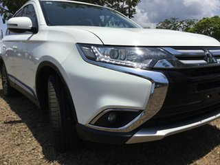 2017 Mitsubishi Outlander ZK MY17 LS (4x4) White Continuous Variable Wagon.