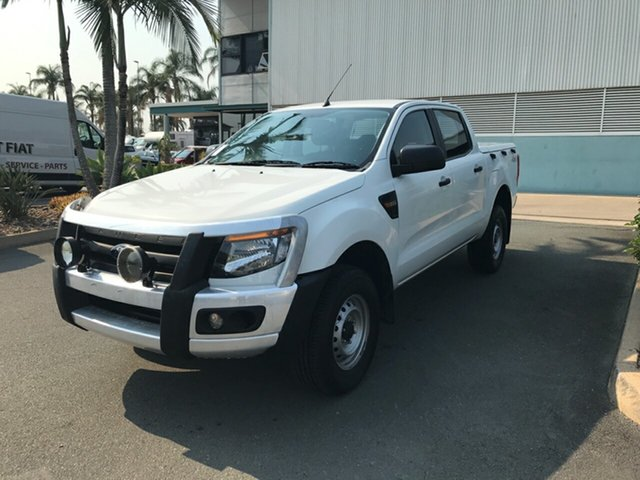 Used Ford Ranger PX XL Double Cab, 2014 Ford Ranger PX XL Double Cab Cool White 6 speed Automatic Utility