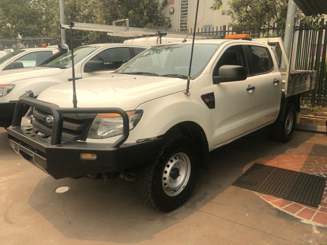 Used Ford Ranger PX XL 2.2 (4x4), 2014 Ford Ranger PX XL 2.2 (4x4) White 6 Speed Automatic Crew Cab Chassis
