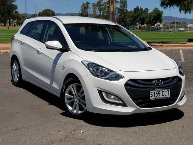 Used Hyundai i30 GD Active Tourer, 2013 Hyundai i30 GD Active Tourer White 6 Speed Sports Automatic Wagon
