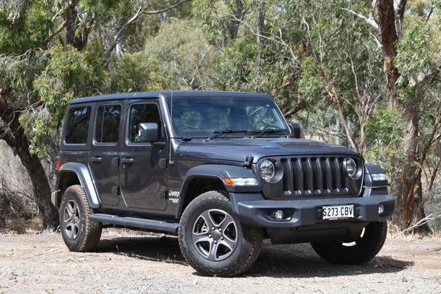 Demo Jeep Wrangler JL MY19 Unlimited Sport S, 2019 Jeep Wrangler JL MY19 Unlimited Sport S Granite Crystal 8 Speed Automatic Softtop
