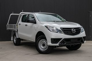 2019 Mazda BT-50 UR0YG1 XT Cool White 6 Speed Sports Automatic Cab Chassis.