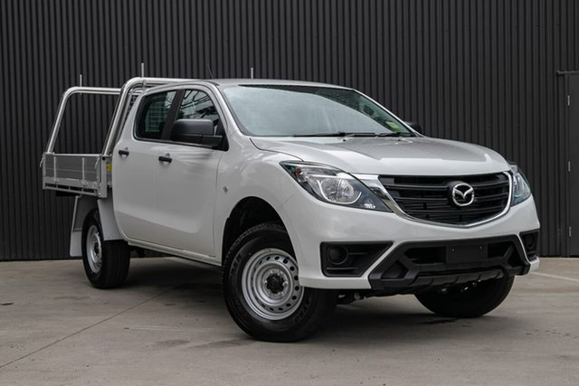 New Mazda BT-50 UR0YG1 XT, 2019 Mazda BT-50 UR0YG1 XT Cool White 6 Speed Sports Automatic Cab Chassis