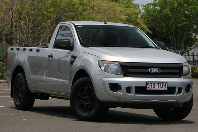 Used Ford Ranger PX XL 4x2, 2014 Ford Ranger PX XL 4x2 Silver 6 Speed Manual Utility