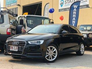 2016 Audi A3 8V MY16 Sportback 1.8 TFSI Ambition Black 7 Speed Auto Direct Shift Hatchback.
