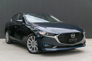 2019 Mazda 3 BP2S7A G20 SKYACTIV-Drive Evolve Deep Crystal Blue 6 Speed Sports Automatic Sedan.