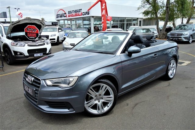 Used Audi A3 8V MY15 Attraction S Tronic, 2014 Audi A3 8V MY15 Attraction S Tronic Grey 7 Speed Sports Automatic Dual Clutch Cabriolet