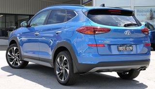 2019 Hyundai Tucson TL3 MY19 Highlander AWD Aqua Blue 8 Speed Sports Automatic Wagon.