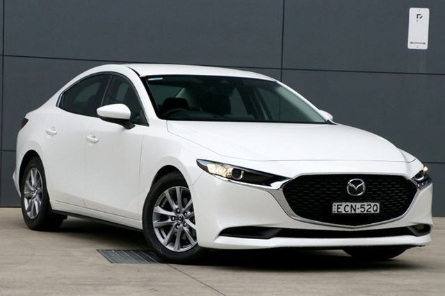 Demo Mazda 3 BP2S7A G20 SKYACTIV-Drive Pure, 2019 Mazda 3 BP2S7A G20 SKYACTIV-Drive Pure Snowflake White 6 Speed Sports Automatic Sedan