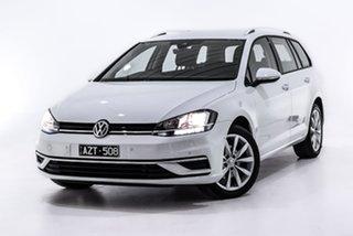 2019 Volkswagen Golf 7.5 MY19.5 110TSI DSG Comfortline White 7 Speed Sports Automatic Dual Clutch.