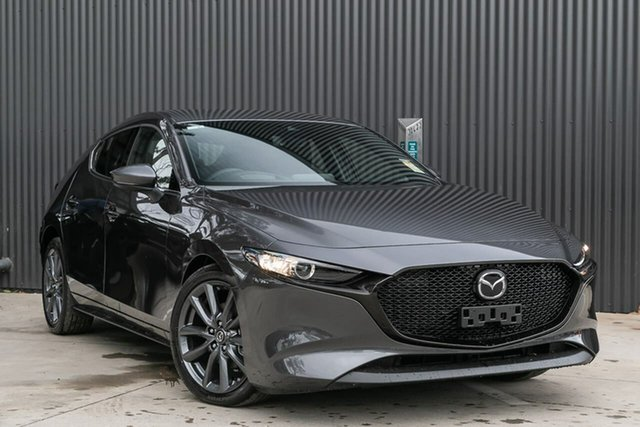New Mazda 3 BP2HLA G25 SKYACTIV-Drive GT, 2019 Mazda 3 BP2HLA G25 SKYACTIV-Drive GT Machine Grey 6 Speed Sports Automatic Hatchback