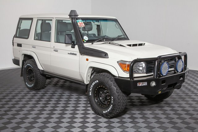 Used Toyota Landcruiser VDJ76R Workmate, 2018 Toyota Landcruiser VDJ76R Workmate White 5 speed Manual Wagon