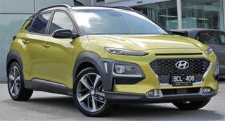 2019 Hyundai Kona OS.2 MY19 Highlander 2WD Acid Yellow & Black Roof 6 Speed Sports Automatic Wagon.