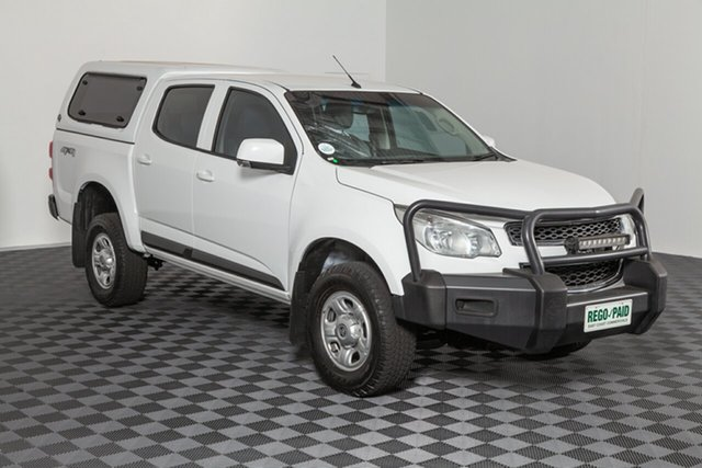 Used Holden Colorado RG MY15 LS Crew Cab, 2015 Holden Colorado RG MY15 LS Crew Cab Summit White 6 speed Automatic Utility
