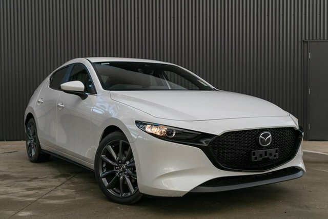 New Mazda 3 BP2HLA G25 SKYACTIV-Drive Evolve, 2019 Mazda 3 BP2HLA G25 SKYACTIV-Drive Evolve Snowflake White Pearl 6 Speed Sports Automatic