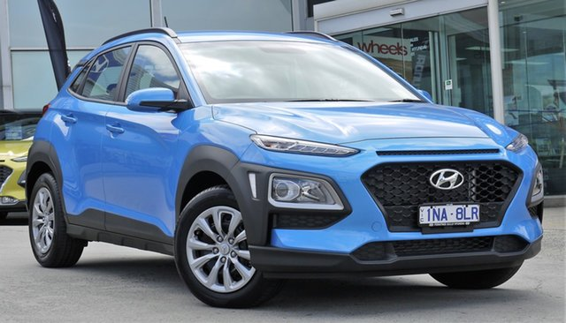 Demo Hyundai Kona OS.2 MY19 Go D-CT AWD, 2018 Hyundai Kona OS.2 MY19 Go D-CT AWD Blue Lagoon 7 Speed Sports Automatic Dual Clutch Wagon