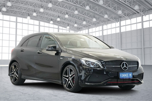 Used Mercedes-Benz A-Class W176 807MY A250 D-CT 4MATIC Sport, 2017 Mercedes-Benz A-Class W176 807MY A250 D-CT 4MATIC Sport Black 7 Speed