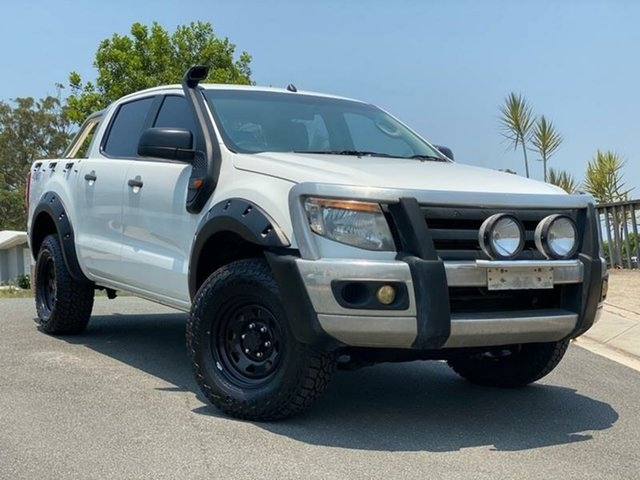Used Ford Ranger PX XL Double Cab, 2013 Ford Ranger PX XL Double Cab White 6 Speed Manual Cab Chassis