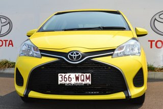 2015 Toyota Yaris NCP130R MY15 Ascent Vivid Yellow 5 Speed Manual Hatchback