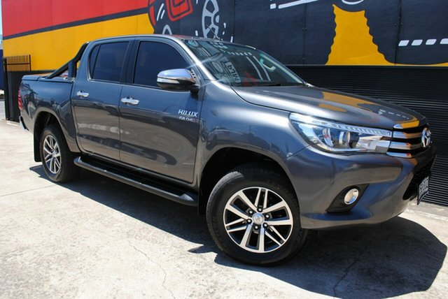 Used Toyota Hilux GUN126R SR5 Double Cab, 2015 Toyota Hilux GUN126R SR5 Double Cab Graphite Grey 6 Speed Sports Automatic Utility