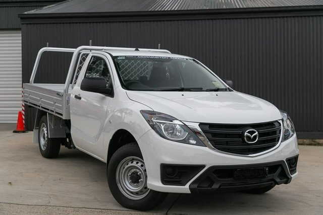 Demo Mazda BT-50 UR0YE1 XT 4x2, 2019 Mazda BT-50 UR0YE1 XT 4x2 Cool White 6 Speed Manual Cab Chassis