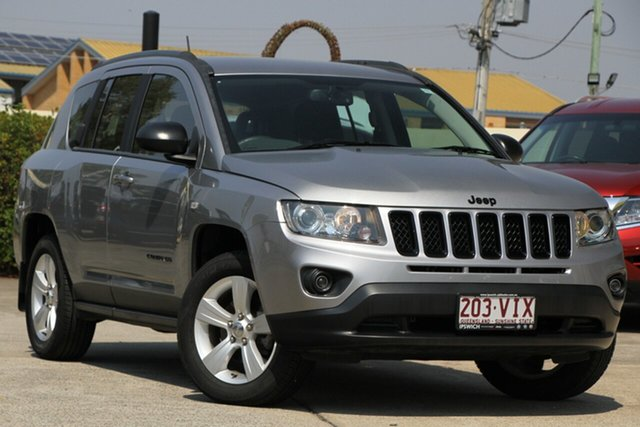 Used Jeep Compass MK MY14 Blackhawk CVT Auto Stick, 2014 Jeep Compass MK MY14 Blackhawk CVT Auto Stick Billet Silver 6 Speed Constant Variable Wagon