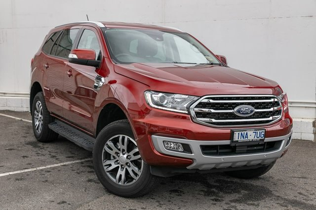 Used Ford Everest UA II 2019.00MY Trend 4WD, 2019 Ford Everest UA II 2019.00MY Trend 4WD Red 10 Speed Sports Automatic Wagon