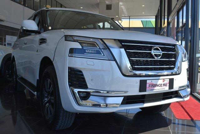 New Nissan Patrol Y62 Series 5 MY20 TI-L, 2019 Nissan Patrol Y62 Series 5 MY20 TI-L Moonstone White 7 Speed Sports Automatic Wagon