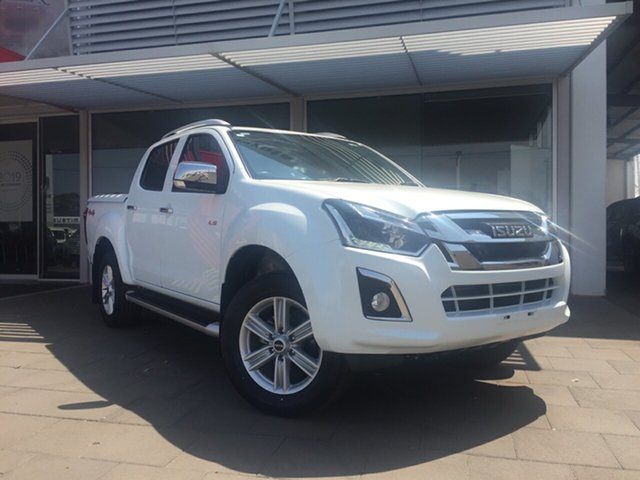 Used Isuzu D-MAX TF MY17 LS-M HI-Ride (4x4), 2018 Isuzu D-MAX TF MY17 LS-M HI-Ride (4x4) Pearl White 6 Speed Manual Crew Cab Utility