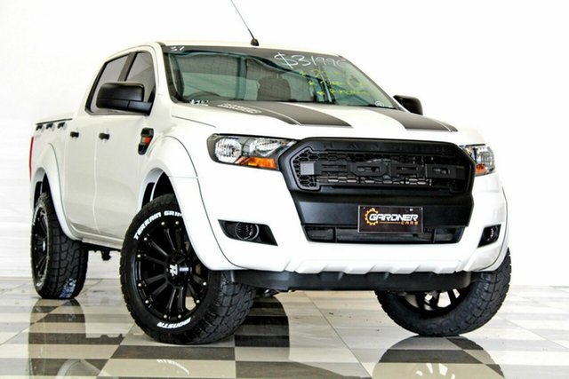 Used Ford Ranger PX MkII XL 2.2 Hi-Rider (4x2), 2015 Ford Ranger PX MkII XL 2.2 Hi-Rider (4x2) White 6 Speed Automatic Crew Cab Pickup