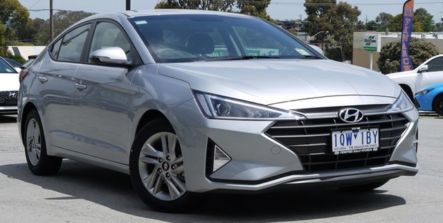 Demo Hyundai Elantra AD.2 MY19 Active, 2019 Hyundai Elantra AD.2 MY19 Active Typhoon Silver 6 Speed Sports Automatic Sedan