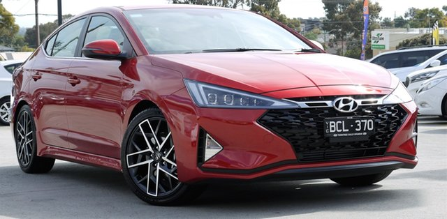 Demo Hyundai Elantra AD.2 MY19 Sport DCT, 2019 Hyundai Elantra AD.2 MY19 Sport DCT Lava Orange 7 Speed Sports Automatic Dual Clutch Sedan