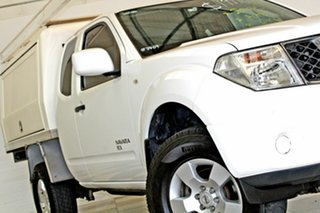 2013 Nissan Navara D40 MY13 RX (4x4) White 5 Speed Automatic King Cab Chassis.
