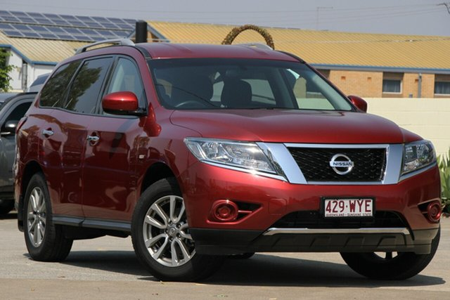 Used Nissan Pathfinder R52 MY16 ST X-tronic 2WD, 2016 Nissan Pathfinder R52 MY16 ST X-tronic 2WD Cayenne Red 1 Speed Constant Variable Wagon