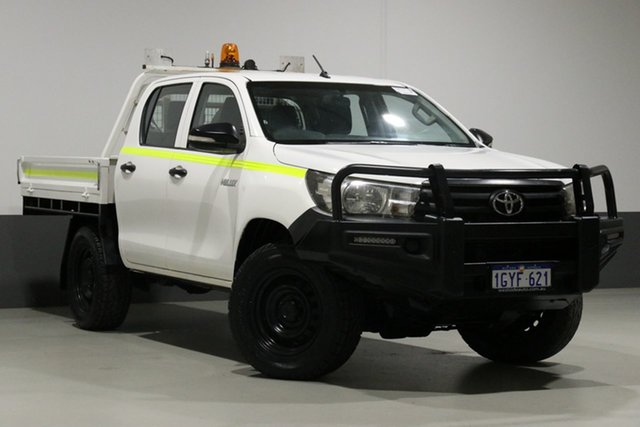 Used Toyota Hilux GUN125R Workmate (4x4), 2016 Toyota Hilux GUN125R Workmate (4x4) White 6 Speed Automatic Dual Cab Utility