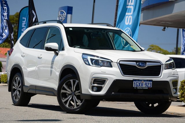 Demo Subaru Forester S5 MY19 2.5i Premium CVT AWD, 2019 Subaru Forester S5 MY19 2.5i Premium CVT AWD Crystal White 7 Speed Constant Variable Wagon