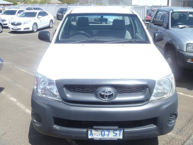 Used Toyota Hilux TGN16R MY09 Workmate 4x2, 2009 Toyota Hilux TGN16R MY09 Workmate 4x2 White 5 Speed Manual Cab Chassis