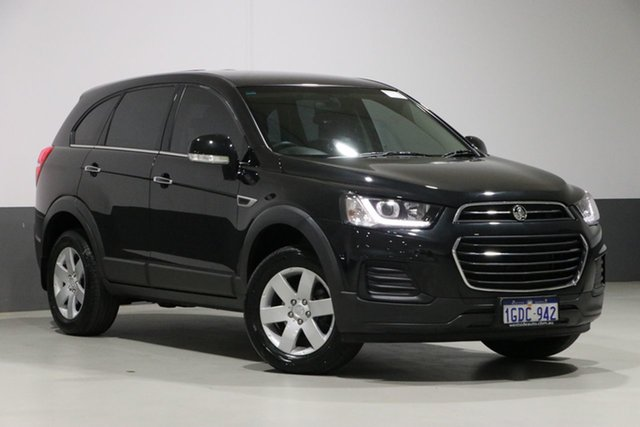 Used Holden Captiva CG MY16 5 LS (FWD), 2016 Holden Captiva CG MY16 5 LS (FWD) Black 6 Speed Automatic Wagon