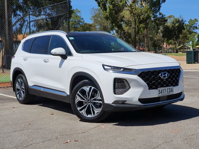 Demo Hyundai Santa Fe TM.2 MY20 Highlander, 2019 Hyundai Santa Fe TM.2 MY20 Highlander White Cream 8 Speed Sports Automatic Wagon