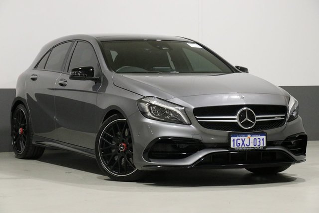 Used Mercedes-AMG A45 176 MY18 4Matic, 2018 Mercedes-AMG A45 176 MY18 4Matic Grey 7 Speed Auto Dual Clutch Hatchback