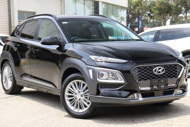 New Hyundai Kona OS.3 MY20 Elite 2WD, 2019 Hyundai Kona OS.3 MY20 Elite 2WD Phantom Black Pearl 6 Speed Sports Automatic Wagon