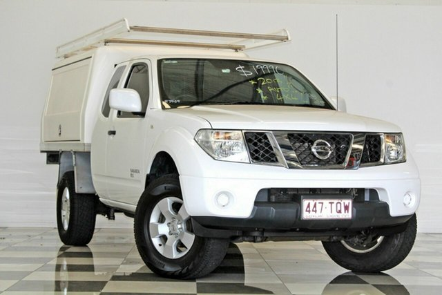 Used Nissan Navara D40 MY13 RX (4x4), 2013 Nissan Navara D40 MY13 RX (4x4) White 5 Speed Automatic King Cab Chassis