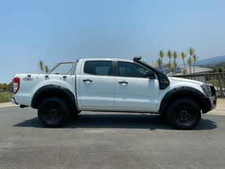 2013 Ford Ranger PX XL Double Cab White 6 Speed Manual Cab Chassis