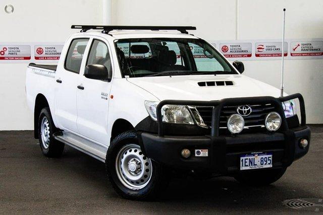Used Toyota Hilux KUN26R MY14 SR (4x4), 2014 Toyota Hilux KUN26R MY14 SR (4x4) Glacier White 5 Speed Manual Dual Cab Pick-up