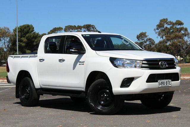 Used Toyota Hilux GUN126R SR Double Cab, 2015 Toyota Hilux GUN126R SR Double Cab White 6 Speed Sports Automatic Utility