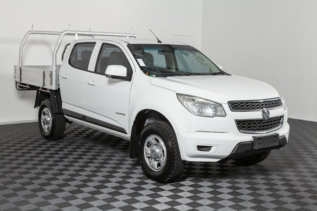 Used Holden Colorado RG MY14 LX Crew Cab 4x2, 2014 Holden Colorado RG MY14 LX Crew Cab 4x2 White 6 speed Automatic Cab Chassis